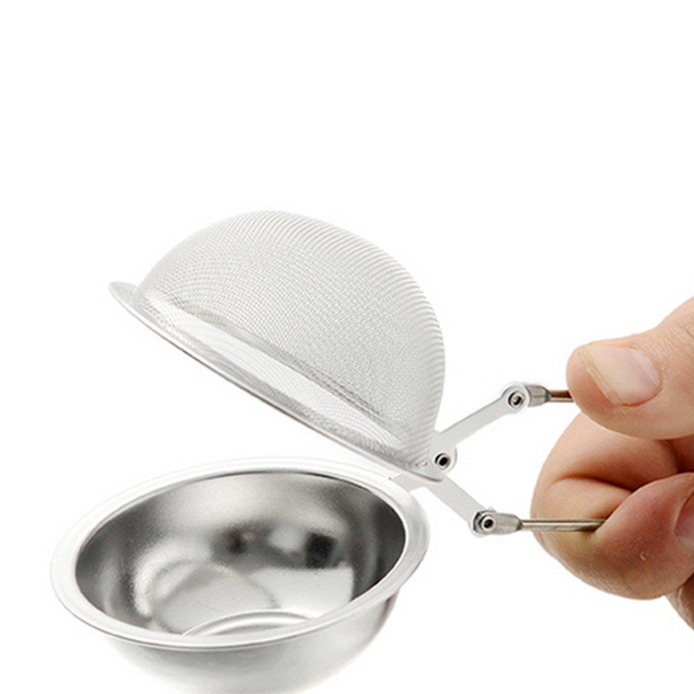 Ogquaton Filtre /à th/é Durable en Acier Inoxydable en Forme De Boule Cr/épine Squeeze Cr/épine Cuisine Fournitures pour Bouilloires Coupe Utilisez 1 Pcs Argent