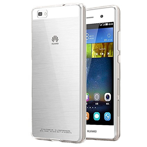 Huawei P8 Lite Case, [Invisible Armor] Xtreme SLIM, CLEAR, SOFT, Lightweight, Shock Absorbing TPU Rubber Bumper Case/ Back Cover