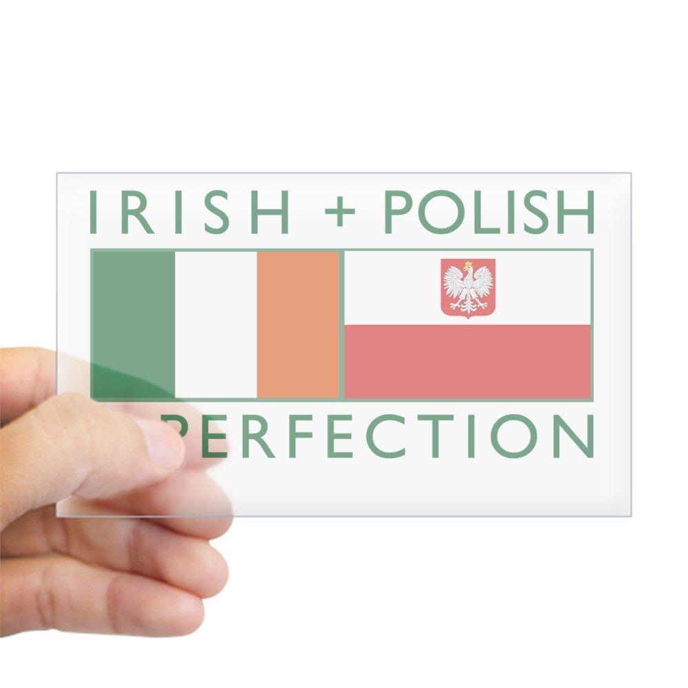 (税込) CafePress – Irishポーランドフラグ長方形ステッカー 3x5 – 長方形バンパーステッカー車デカールステッカー Small - Small 3x5 クリア クリア 0347438115BB06F Small - 3x5 クリア B00PKOCEAU, アマグン:f5e9e5a2 --- mvd.ee