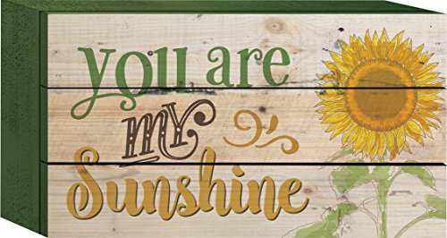 You are My Sunshine Sunflower 5 x 8 Wood Block-Style Wall Art Sign Plaque