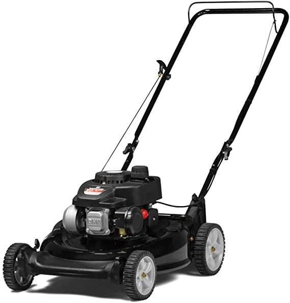 Yard Machines 140cc OHV 21-Inch High Wheeled 2-in-1 Walk-Behind Push Gas Powered Lawn Mower - Perfect for Small to Medium Sized Yards - Side Discharge and Mulching Capabilities