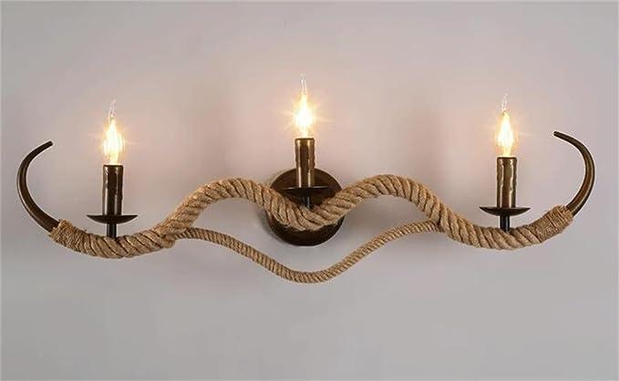Lilsn applique di canapa corda da comodino personalizzata staffe