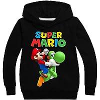 East-hai-buy Suéter para Niños, Moda Niñas Super Mario Bros Sudadera Pullovers Sudaderas con Capucha Ropa Deportiva con…