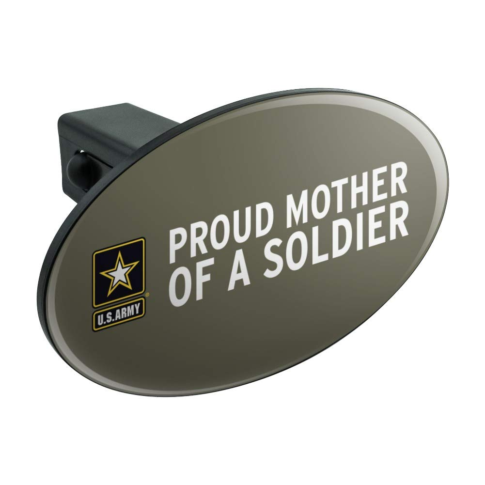 Graphics and More U.S. Army Proud Mother of a Soldier Oval Tow Trailer Hitch Cover Plug Insert by Graphics and More