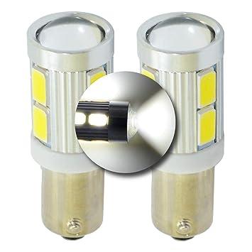 Kit de bombillas LED de aparcamiento trasero de xenón blanco BAY9s EB3L2 de H21W 6000 K CREE Canbus: Amazon.es: Coche y moto