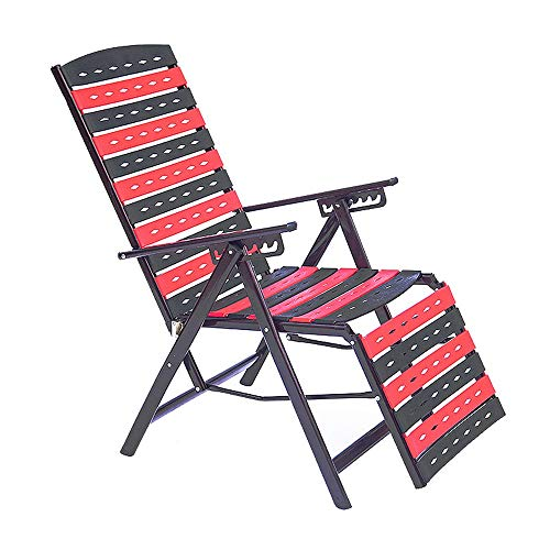 Limaomao Zero Gravity Chair Folding Deck Chairs Garden Bed Headrest Zero Gravity Durable Strong Lounger Recliner Office Chair for Lounge Sunbathing (Color : Black, Size : 669598cm) (Danny Deck Chair)