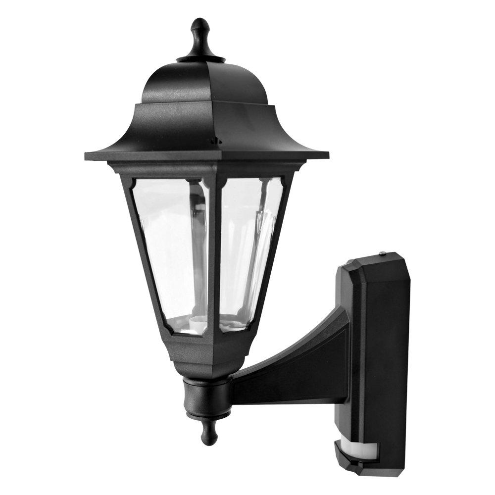 ASD Garden Lights Anti-vandal polycarbonate Resistant Hanging Up Lantern/With PIR/Max 1x60w Baynet Bulb CL/BK100P