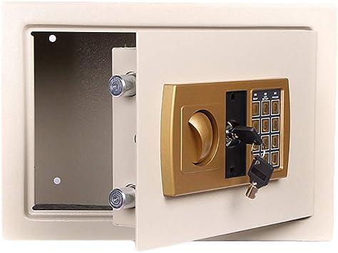 Caja de Seguridad Caja de Dinero electrónica Moneda Caja de Almacenamiento de Efectivo Blanco Fuego 35 * 25 * 25 cm Caja Fuerte Caja de Almacenamiento: Amazon.es: Electrónica