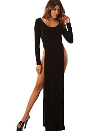 Amazon Com Wicked Temptations Sexy Stretch Knit Maxi Dress Made In The Usa Clothing