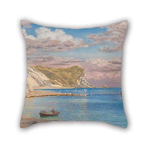 20 X 20 Inches / 50 By 50 Cm Oil Painting John Brett - Man Of War Rocks, Coast Of Dorset Throw Pillow Covers,twice Sides Is Fit For Bedding,him,divan,dinning Room,christmas,club (Brett Wicker)