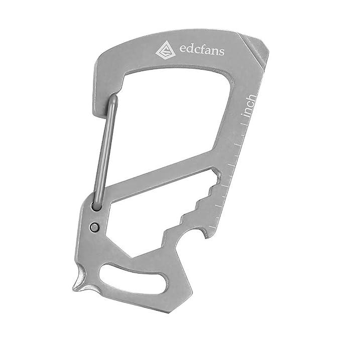 Amazon.com: Llavero de mosquetón de acero inoxidable 100 ...
