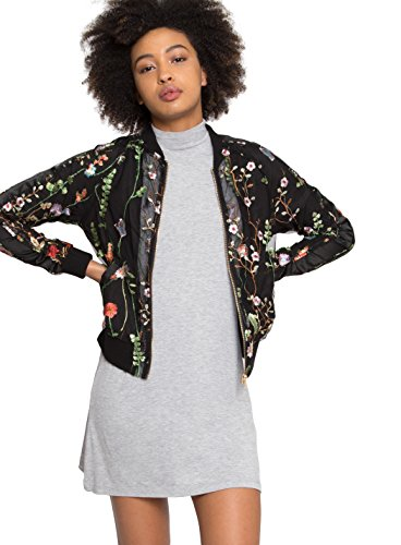 Wet Seal Enchanted Fields Embroidered Jacket  Black  Large
