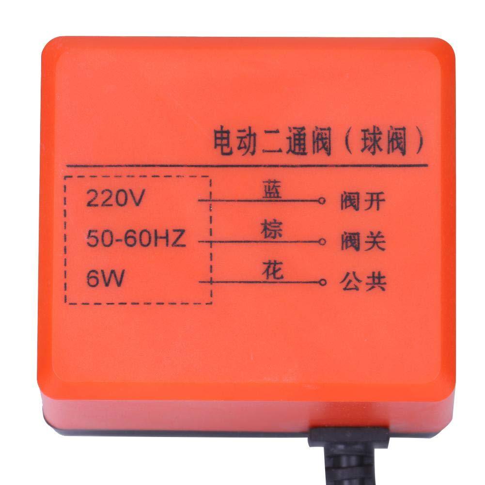 V/álvula de bola el/éctrica de lat/ón de alta calidad,V/álvula de bola de 3 hilos de 2 v/ías,DN15 y DN25 dos modelos,Para medio de agua,gas,aceite,CA 220V,1.6mpa,12 DN15 7 6 cm