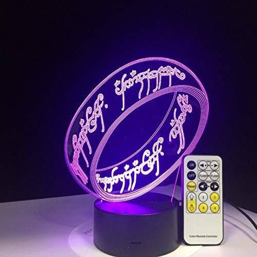 Herr Der Ringe 3d Illusion Schreibtischlampe 7 Farbe 3d