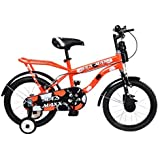 """MAD MAXX BIKES Humber 16 """" Single Speed Road Kids Steel Cycle (Neon Red, 4 to 6 Years)"""