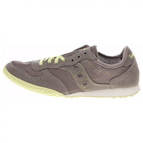 Saucony Womens Bullet Mesh, Grey/Lime-5