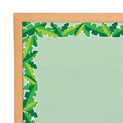 Tropical Leaves Wide Bulletin Board Borders