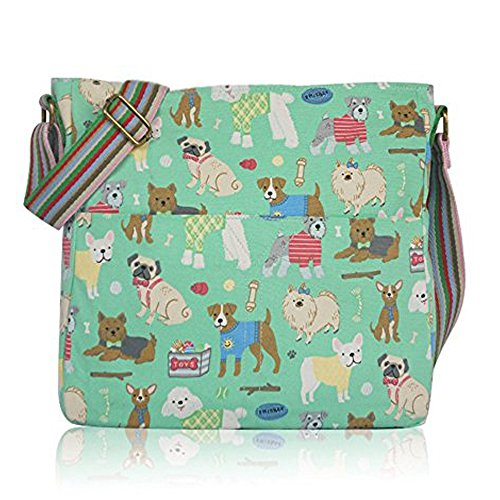 MixDog Polka Flowers Sausage Dogs Crossbody Birds Animals Green Messenger And Owl Poodles Vintage Bags Lovely Vintage Flowers Dot Scottie Farm wxBUq7Fn