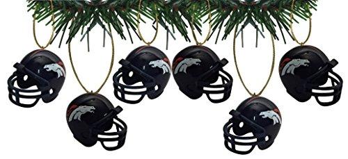 - Denver Broncos Football Helmet Ornaments Set Of 6