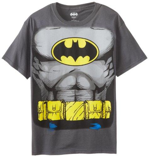 Batman Costume Boys Chronicle Muscle Tee, Grey, X-Large