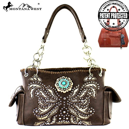 MW314G-8085 Montana West Concho Collection Concealed Handgun Stachel-Coffee - Concho Collection