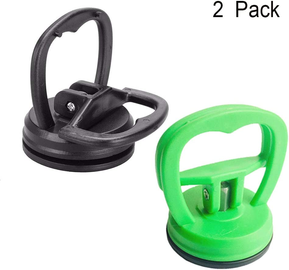 Green+Black Dent Remover Heavy Duty Galss Lifting Flever Heavy Duty Suction Cups,Mini Car Dent Puller Handle Lifter