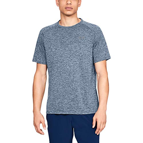 (Under Armour mens Tech 2.0 Short Sleeve T-Shirt, Academy (409)/Steel, Medium)