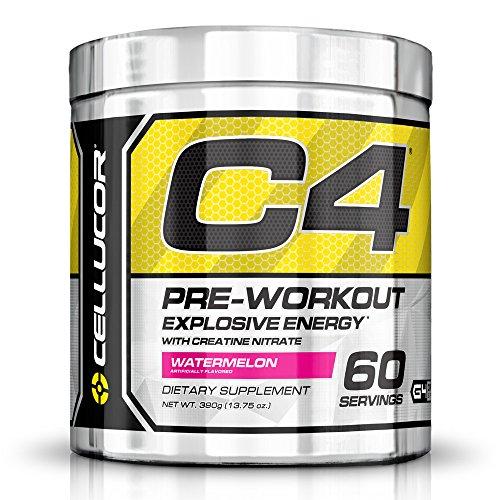 Cellucor C4 Pre Workout suppléments de créatine, oxyde nitrique, bêta Alanine et énergie, 60 portions, melon d'eau
