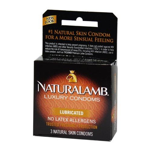 Trojan Naturalamb (3 Lubricated Natural Skin Condoms)