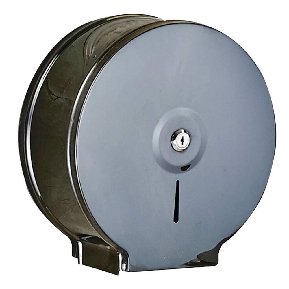 YJ YANJUN Commercial Toilet Paper Dispenser - Black Glossy Stainless Steel Jumbo Paper Holder - 9 Jumbo roll by YJ YANJUN