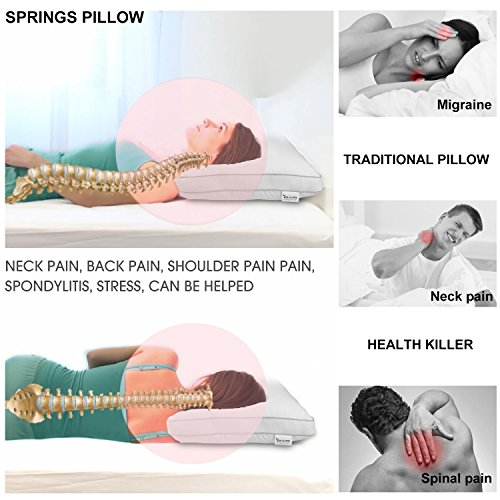 Spring Bed Pillows Newest Breathable Neck And Back