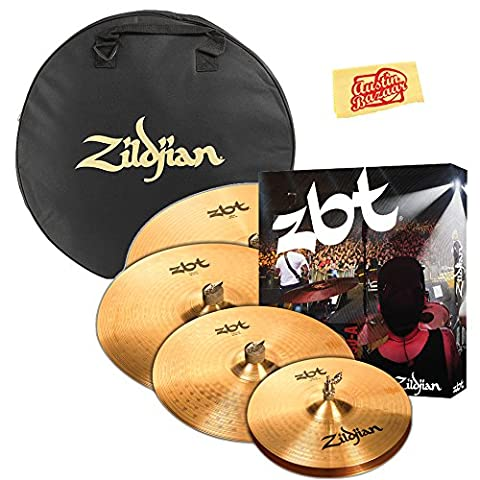 Zildjian ZBTP390-A ZBT Cymbal Set Bundle with Gig Bag, Polishing Cloth (Cymbals Zbt)