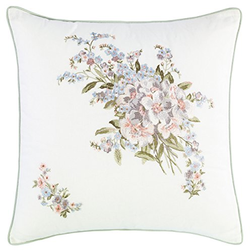 Cheap Laura Ashley 220886 Harper Decorative Pillow, Pale Green, 18x18 for cheap