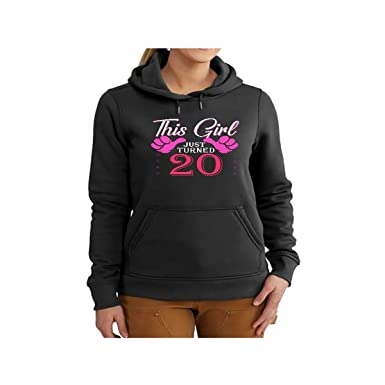Amazon VintageAgesShirtsShop Womens 20th Birthday Gift For 20 Year Old This Girl Turned Shirt