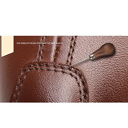 YXLONG Nouveaux Hommes Chaussures De Sport Hommes Ensembles en Cuir De Pieds Chaussures Simples Mode Fond Mou Chaussures pour Hommes Première Couche en Cuir Chaussures Marée K20101black oVLHvwoh8