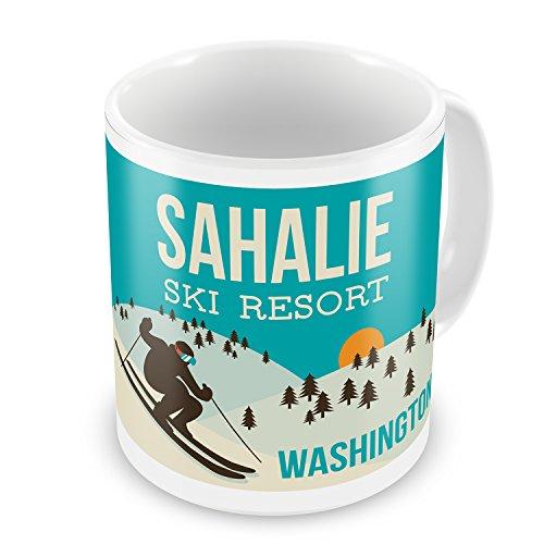 Coffee Mug Sahalie Ski Resort - Washington Ski Resort - N...
