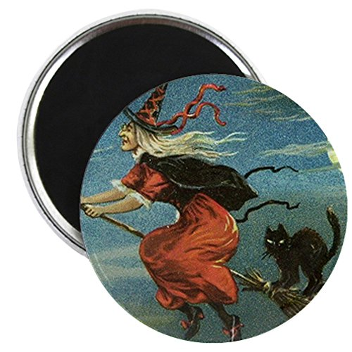CafePress - Vintage Halloween Witch sq Magnet -