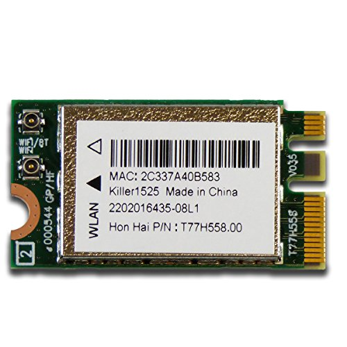 CUK Killer Doubleshot Wireless-AC 1525 + Bluetooth 4.1 M.2 NGFF E/A Key Wireless Network Card for Laptops by Qualcomm