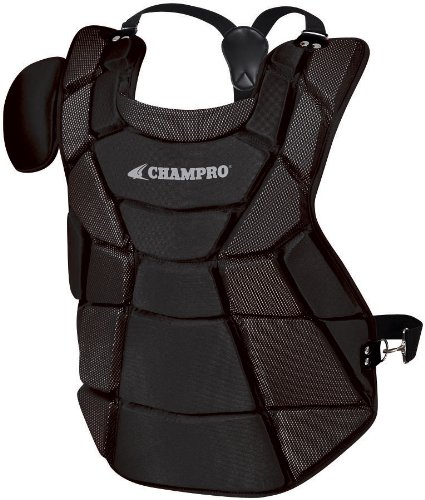 Champro Chest Protector - Champro Major League Chest Protector (Black, 17.5-Inch Length)