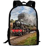 YIXKC Backpack Adult Steam Train Scottish Borders Unique Outdoor Multipurpose Shoulders Bag Daypacks