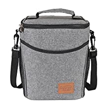 UNIQME Insulated Lunch Box Cooler Bag for Women Men Adults & Kids 9L Large Lunch Bag Bento for Camping Grey