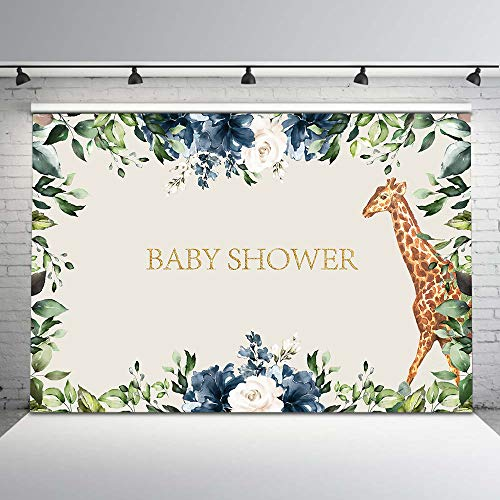 Mehofoto Giraffe Backdrop Safari Jungle Baby Shower Photo Backdrops 7x5ft Giraffe Baby Shower Vinyl Background Banner Safari Baby Shower Decorations