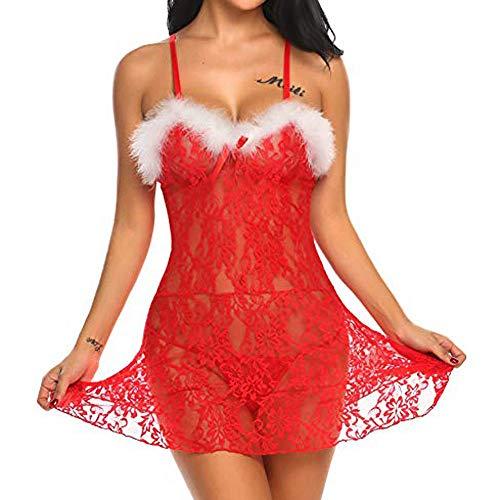 Women's Sexy Sleepwear, 2019 New Christmas Lingerie Racy Underwear Spice Suit Temptation Underwear with Briefs by JMETRIE ()