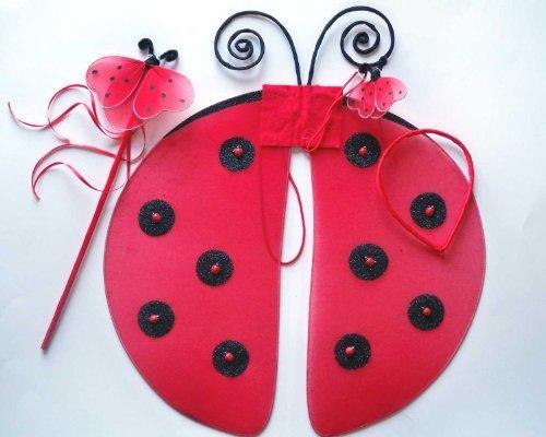 [Ladybug Wing 3pc Set] (Ladybug Costumes Accessories)