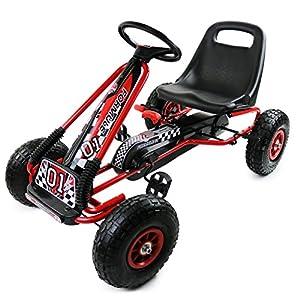 oypla childrens pedal go kart pedal go cart go kart 3 8yrs pedal car kids cart air inflatable tyres