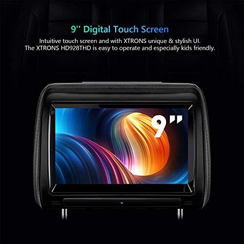 XTRONS 2 x 9 Inch Pair Car Headrest DVD Player HD Digital Adjustable Touch  Screen 1080P Video Auto Games HDMI Headphones
