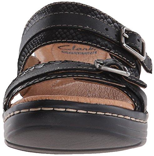 Clarks Hayla Mariel vestido de la sandalia Black