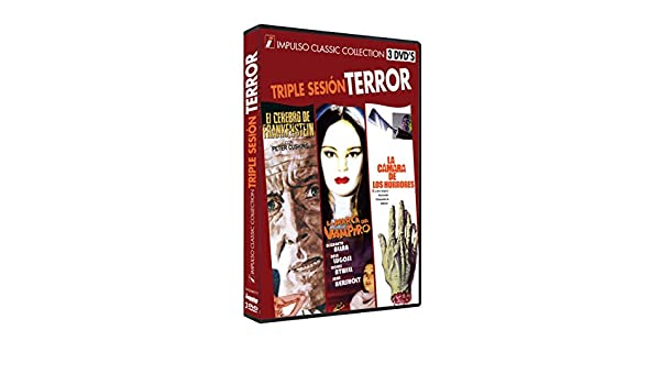 Amazon.com: El Cerebro de Frankenstein + La Marca del Vampiro + La cámara de los horrores 3 DVD Frankenstein Must Be Destroyed + Mark of the Vampire + ...