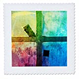 3dRose Alexis Photography - Abstracts - Colorful abstract of a grunge industrial window - 18x18 inch quilt square (qs_270480_7)