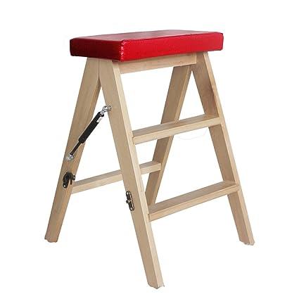 TH Gradini Scalette Sgabello Sedie pieghevoli in legno massello ...